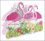 Paper Dazzle Female Flamingos