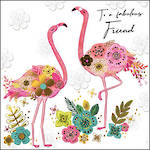 Sublime Birthday Friend Flamingos