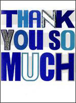 Thank You Card Yours Truly Blue
