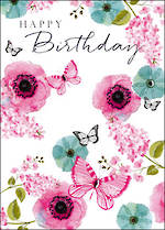 Yours Truly Birthday Pink Floral