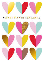 Anniversary Card Yours Truly Hearts