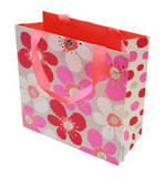 Medium Gift Bag Poppies Pink