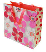 Large Gift Bag Poppies Pink