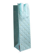 Gift Bag: Bottle Quilted Mint