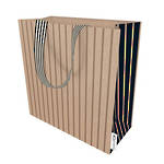 Medium Gift Bag Stripe On Kraft