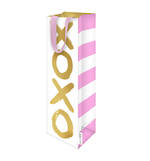Bottle Gift Bag XOXO White