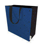 Large Gift Bag Quilted Navy