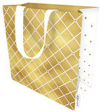 Medium Gift Bag Quilted Gold