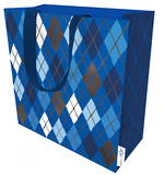 Medium Gift Bag Argyle Navy