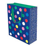 Large Gift Bag Party Dots Navy