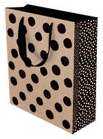 Med Gift Bag Kraft Black Dots