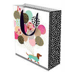 Large Gift Bag Dachshund With Balloons