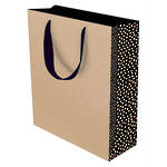 Small Gift Bag Kraft Dotty