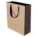 Medium Gift Bag Kraft Dotty
