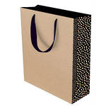 Large Gift Bag Kraft Dotty