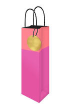 Bottle Gift Bag Lollypop Pink Orange
