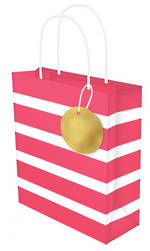 Small Gift Bag Lollypop Red White Stripe