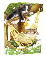Santoro Swing Cards Cat In Hammock