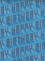 Folded Wrap Male Embossed Birthday Text