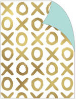 Folded Wrap Gold XOXO On Pearl