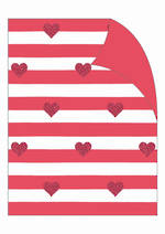 Folded Wrap Red Stripes Hearts
