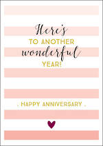 Anniversary Card Ink Wonderful Year