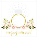 Engagement Card Rosetta Ring