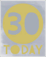 Birthday Age Card 30 Male Sasparilla