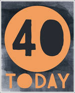 Birthday Age Card 40 Male Sasparilla