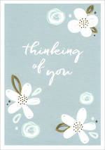 Sympathy Card Thinking of You Wish Floral