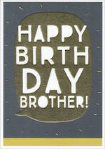 Brother Birthday Card Zephyr Happy Birthday