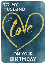 Husband Birthday Card Zephyr With Love