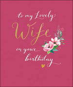 Wife Birthday Card Peppermint Large