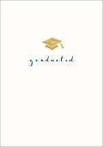 Graduation Card Gold Cap