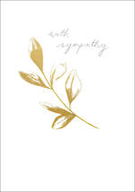 Sympathy Card Gold Branch
