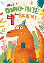 Birthday Age Card 7 Boy Dino-Mite Birthday