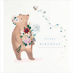 Proper Mail Bear With Flowers