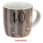 LD Nouveau Delights Mug 40th Birthday