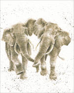 Mini Card Wrendale Elephants