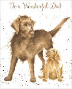 Dad Birthday Card Fur Feathers Dogs