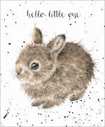 Baby Card Fur Feathers Little Bunny