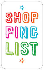 Magnetic Memoclip Shopping List