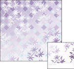 Blank Card General Origami Diamond Check Purple