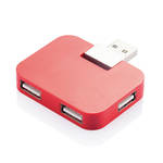 Travel USB Hub Red