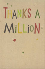 Thank You Card Hallmark Million