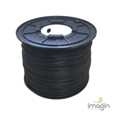 PVCF FLEXIBLE 4mm ROUND BLACK SPOOL