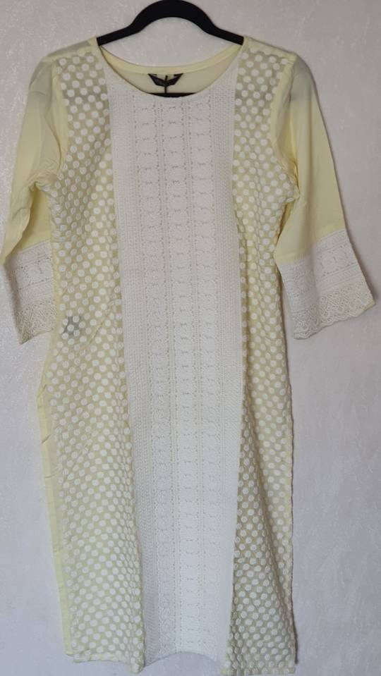 Lakhnavi Chicken Front Work Kurti