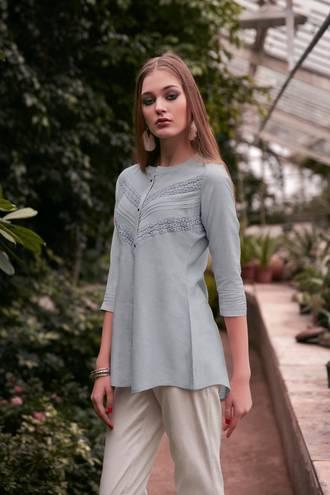 Rayon Flex Designer Western Short Top/Kurti
