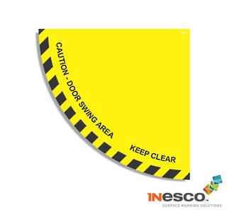 MightyLine Floor Sign - Door Swing Warning