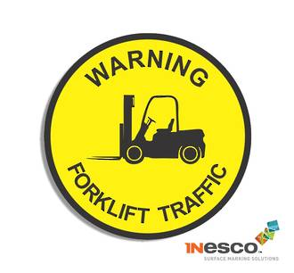 MightyLine Floor Sign - Forklift Warning
